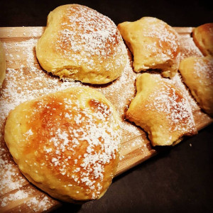 beignets briochés aux pommes